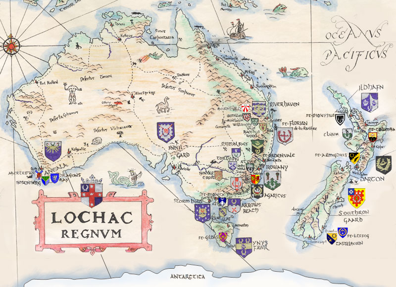 Artistic representation of the Kingdom of Lochac