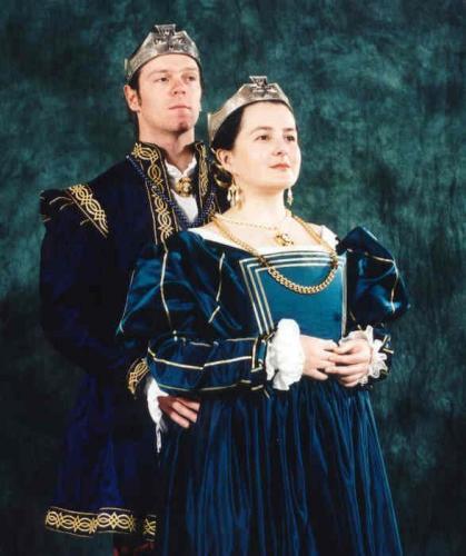 King Ædward and Queen Yolande